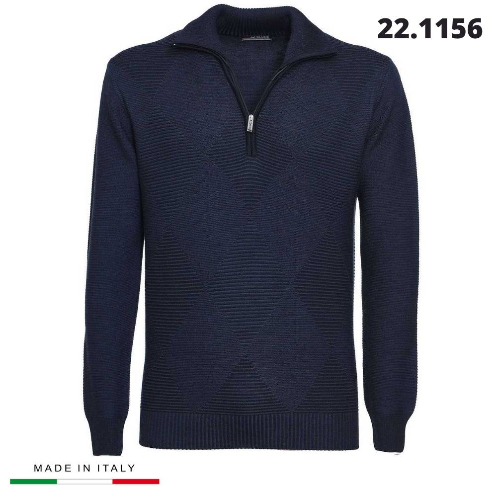 """SHIRT WITH HALF ZIPPER """"RE DEL MARE"""" MADE IN ITALY"""